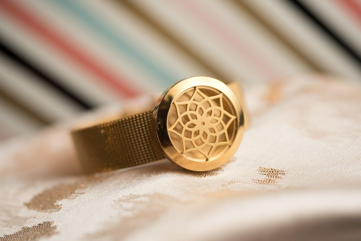 Image of Lotus Essential Oil Diffuser Bracelet