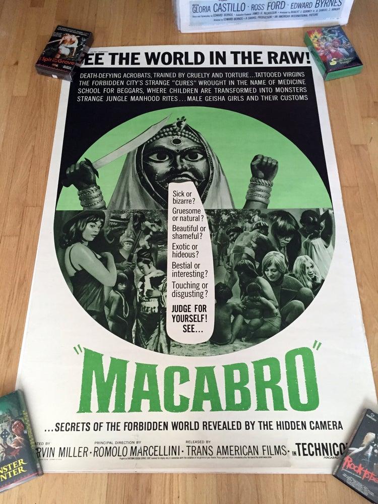 """Image of 1966 MACABRO Original U.S. 40 x 60"""" Movie Poster"""