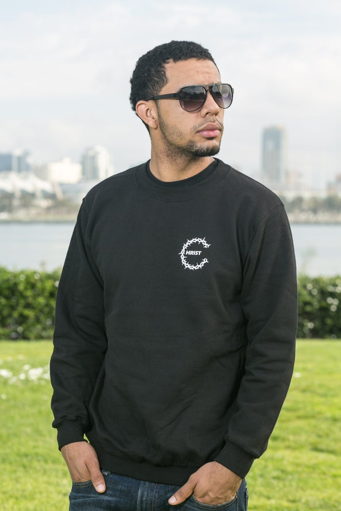 Image of Joint Venture Small Thorn C Black Sweatshirt