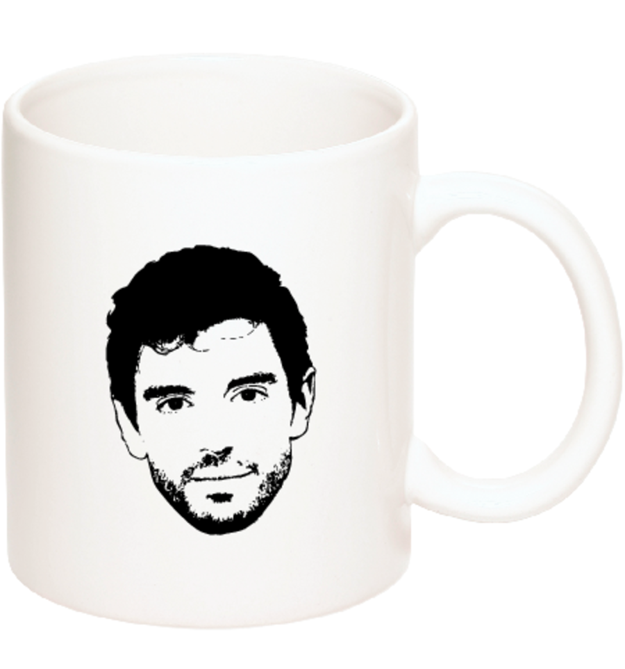 Image of *NEW* Ceramic Coffee Mug with Big Face and 'Steve Grand' logo