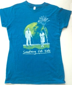 Image of Ladies 'Golf on the Moon' T-Shirt - Antique Sapphire Now on sale -