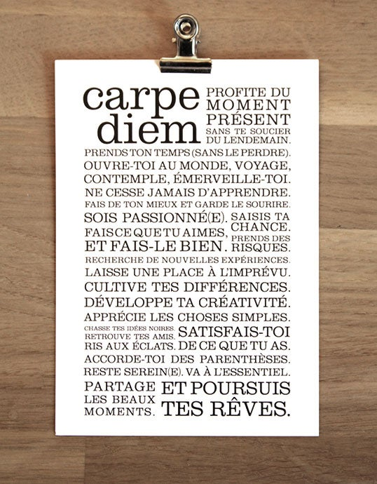 Image of Carte postale Carpe Diem