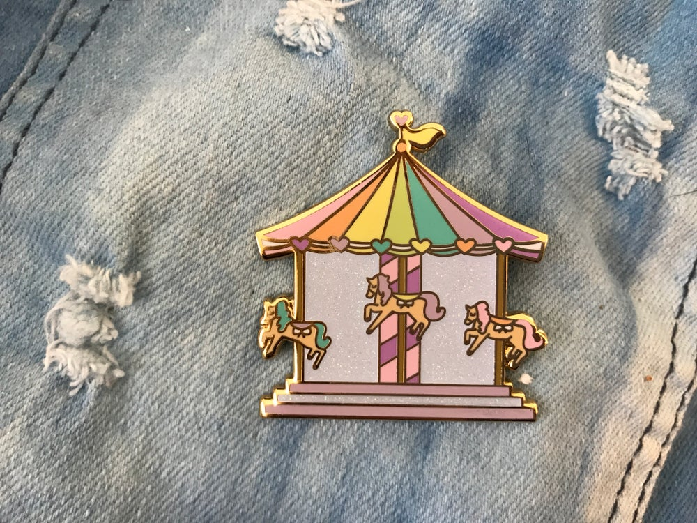 Image of Carousel Enamel Pin (v. 2)
