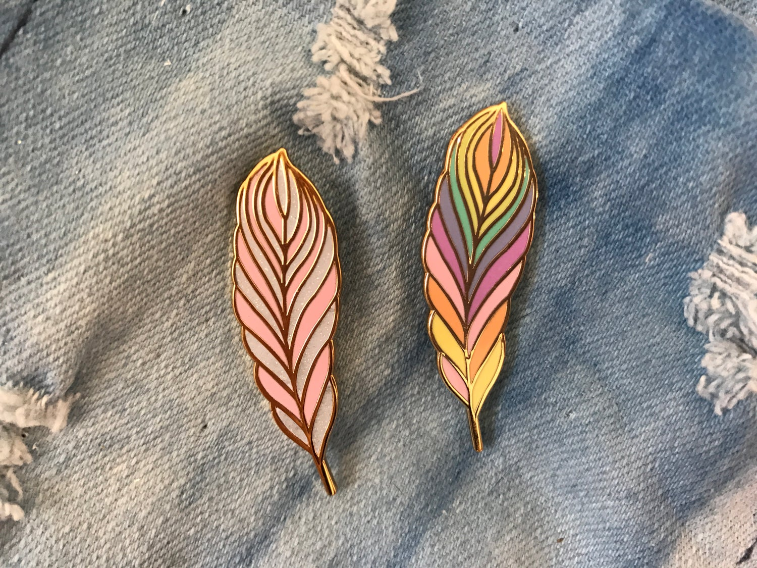 Image of Feather Enamel Pin