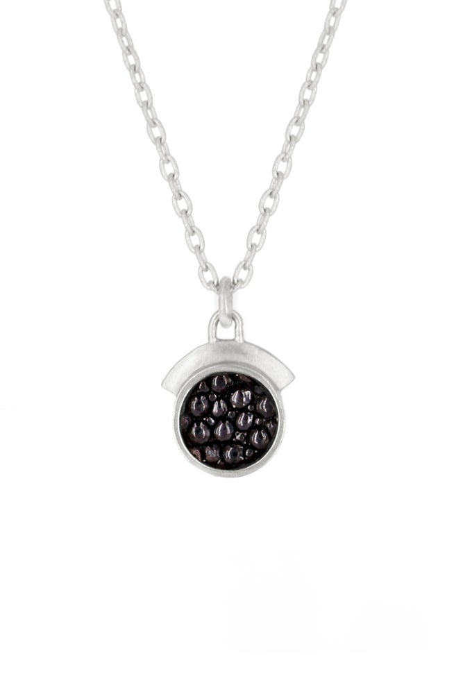 Image of STINGRAY DREAM SEQUINS NECKLACE- SILVER