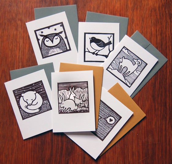Image of Woodcut Notecards