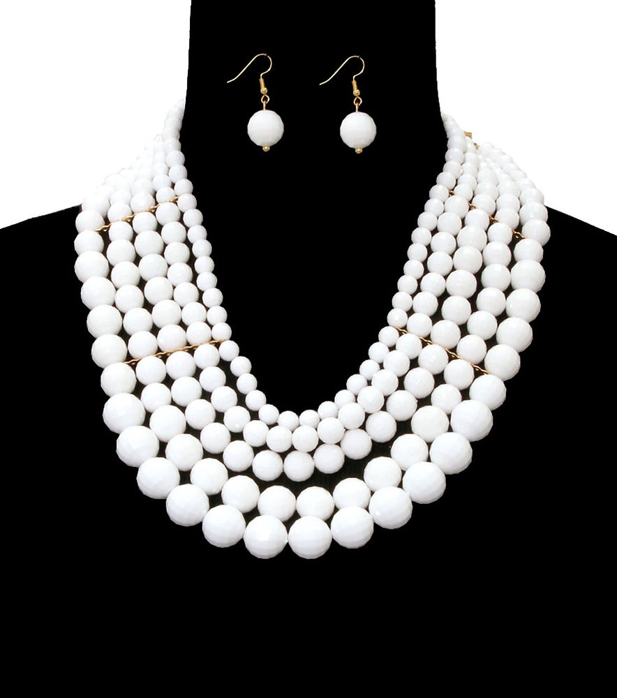 Image of Beads Layered Necklace Set