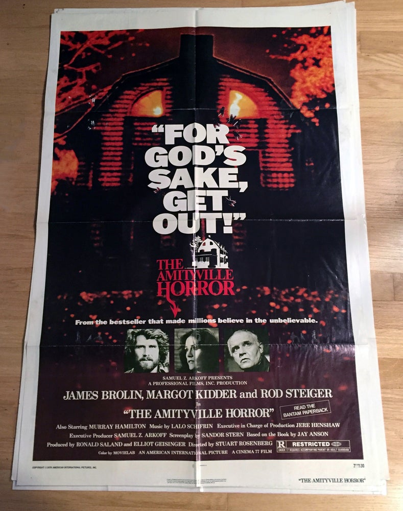 Image of 1979 THE AMITTYVILLE HORROR Original U.S. One Sheet Movie Poster