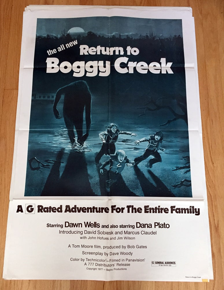 Image of 1977 RETURN TO BOGGY CREEK Original U.S. One Sheet Movie Poster