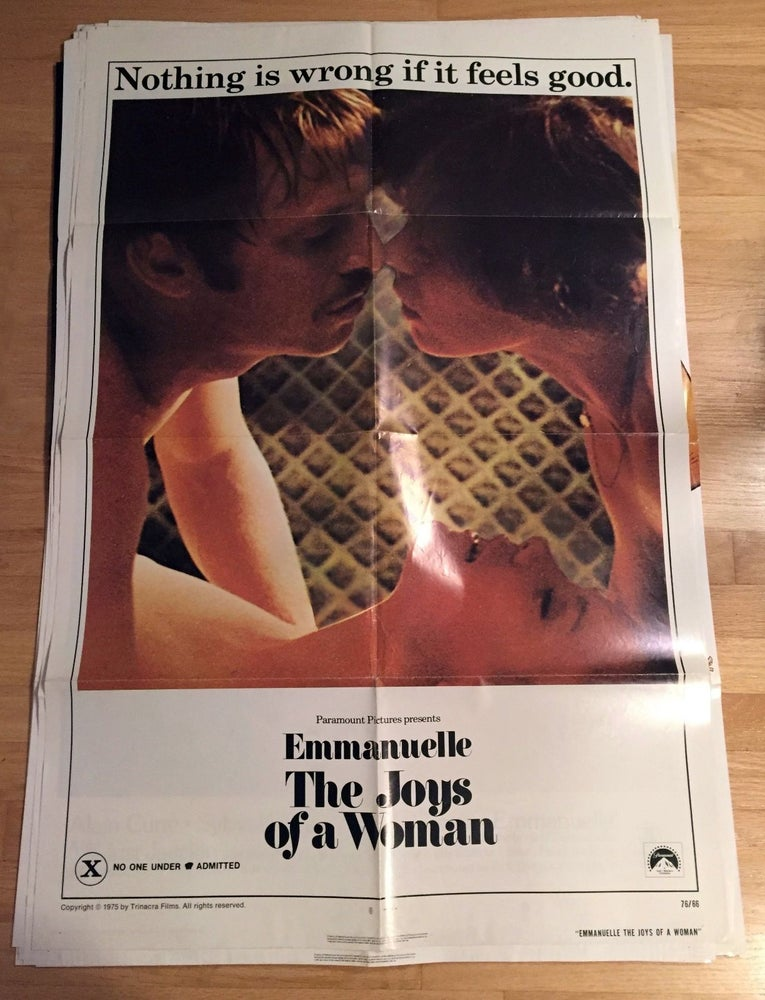 Image of 1976 EMMANUELLE THE JOYS OF A WOMAN Original U.S. One Sheet Movie Poster