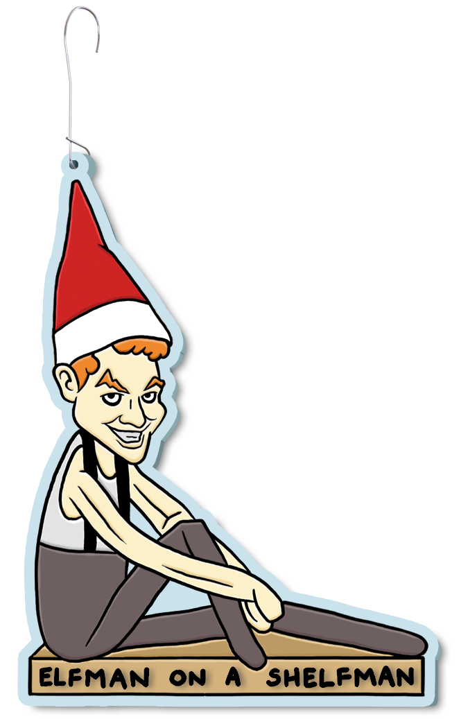 Image of Elfman on a Shelfman Ornament