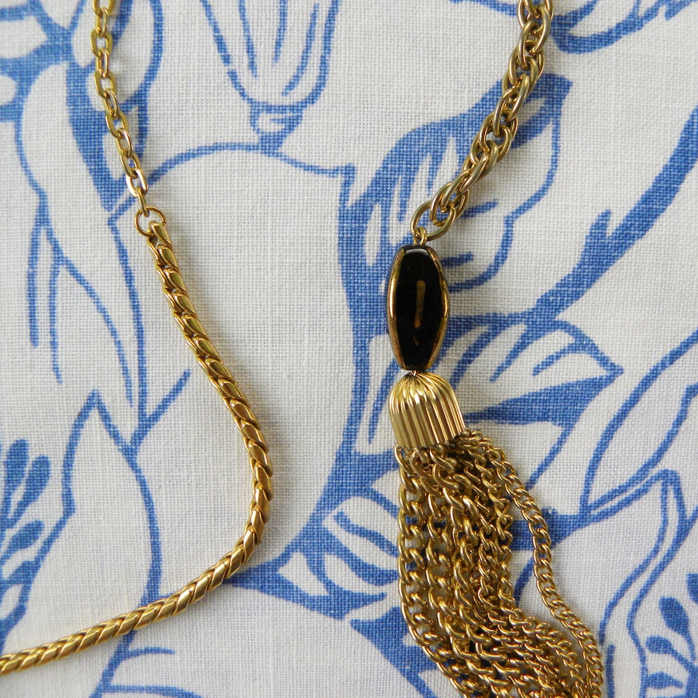 Image of Tasselled, Reversible Necklace