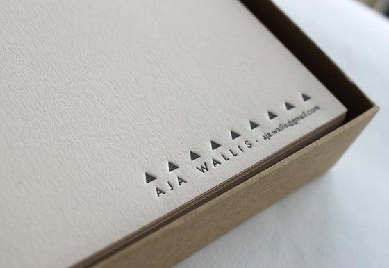 Image of Personalised Stationery Box Set - Set of 25 notecards & envelopes
