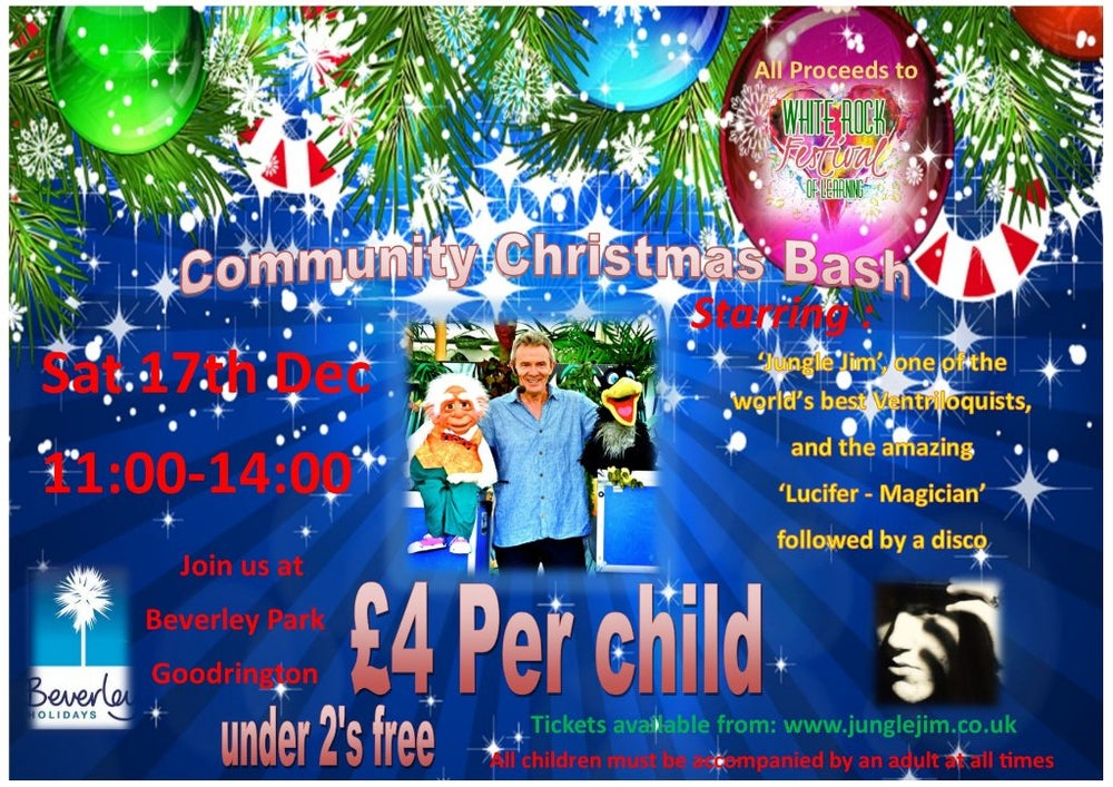 """Image of Adult Ticket to """"Community Christmas Bash"""" Beverley Park, Paignton Saturday 17th December 11am-2pm"""