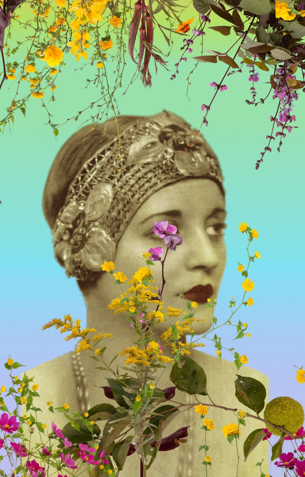 Image of Fallen Fruit - Tallulah Bankhead with Flowers
