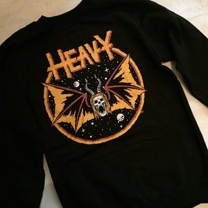 Image of HEAVY metal PARKING LOT crew neck sweatshirt