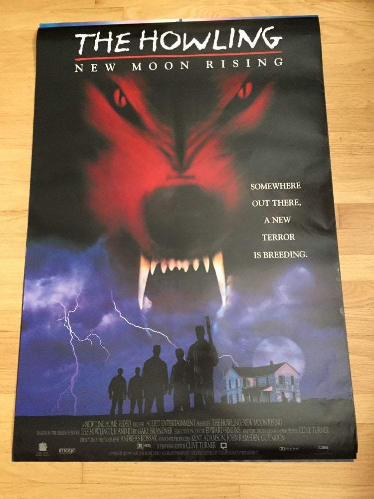 Image of 1995 THE HOWLING NEW MOON RISING Original Home Video Promo Movie Poster