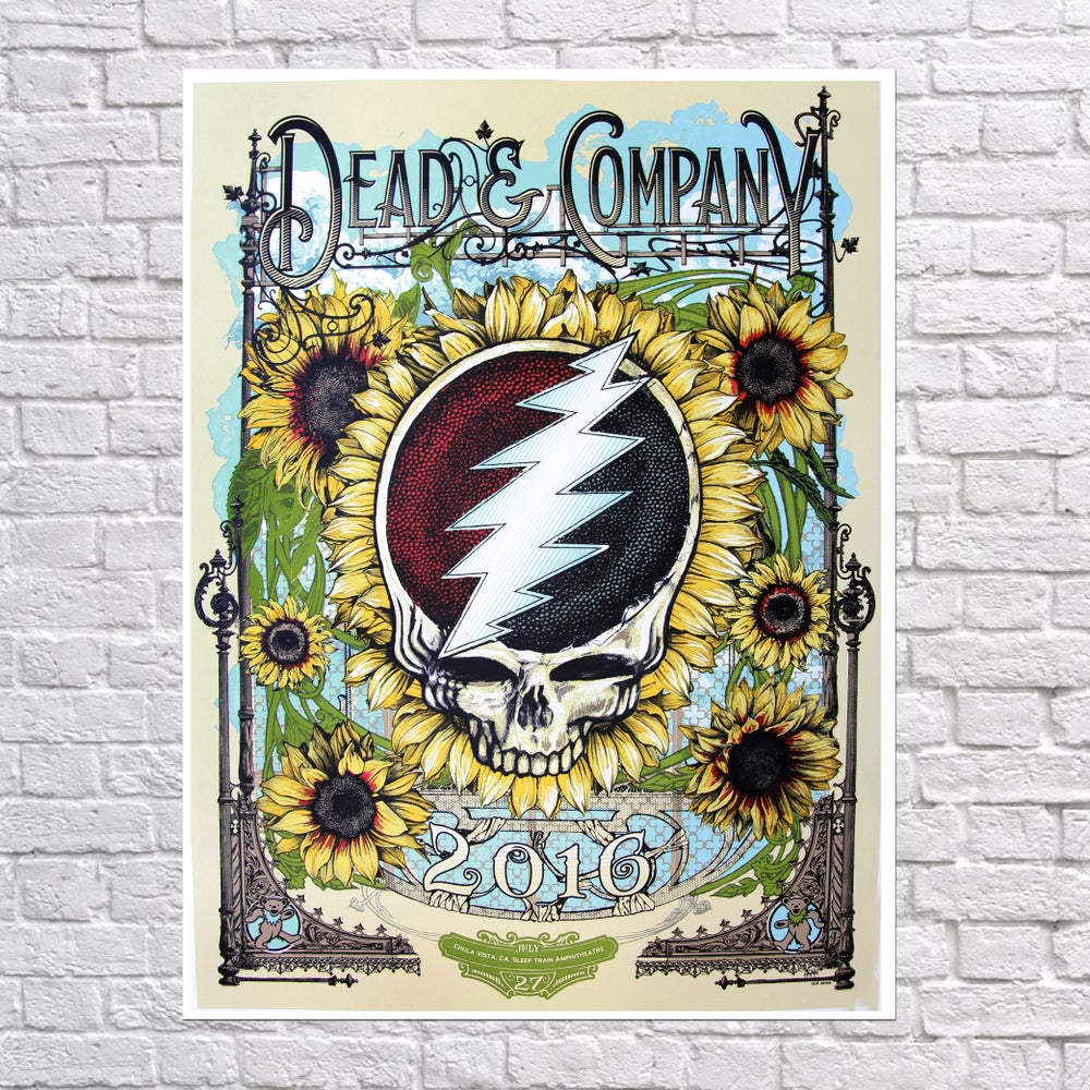 Image of Dead & Company 'Dead & Lovely' Poster Chula Vista, Ca