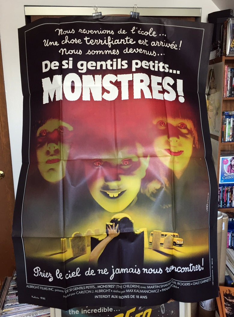 Image of 1982 THE CHILDREN Original French One Panel Movie Poster