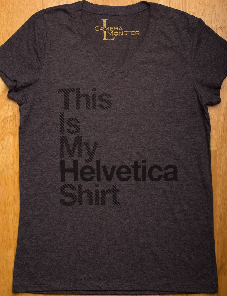 Image of Helvetica Lady's V-Neck Tee