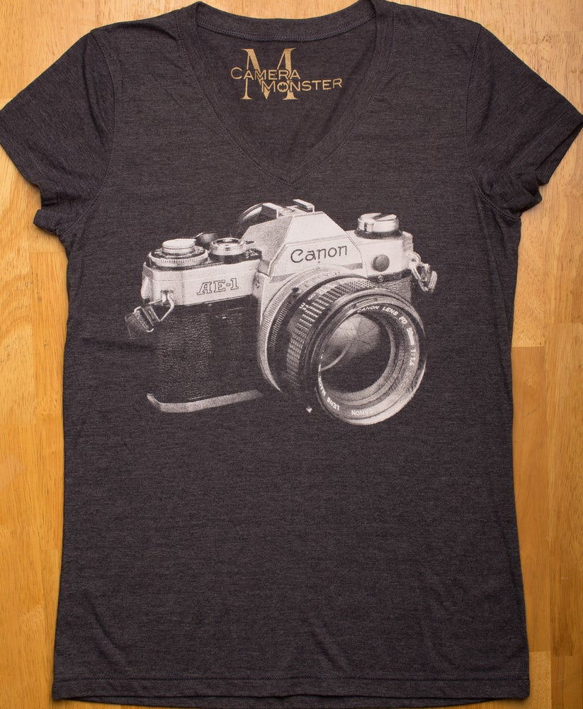 Image of Canon AE1 Lady's V-Neck Tee