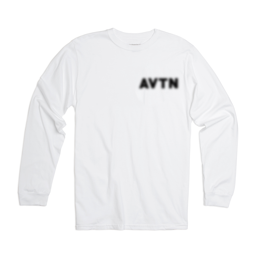 "Image of Aviation ""Blurred Out"" Long Sleeve - White"