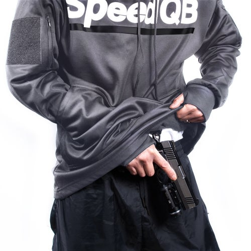 Image of SpeedQB Tech Hoodie (Grey)