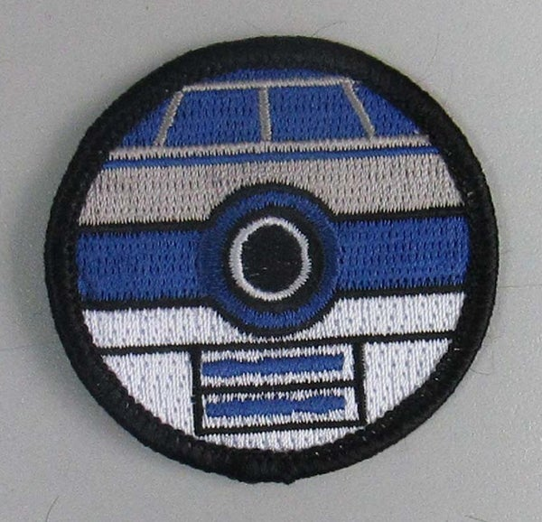"""Image of R2D2 Pokeball Style 2"""" Patrol Patch"""