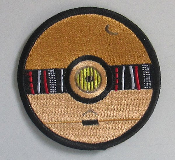 """Image of C-3PO Pokeball Style 3"""" Patch"""