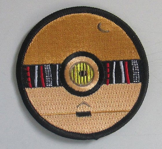 "Image of C-3PO Pokeball Style 3"" Patch"