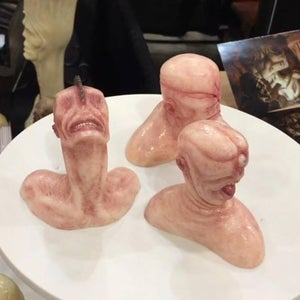 """Image of """"Crackhead"""", """"Buzz"""" and """"Popeye"""" Hand Painted Limited Edition Mini Bust Set"""
