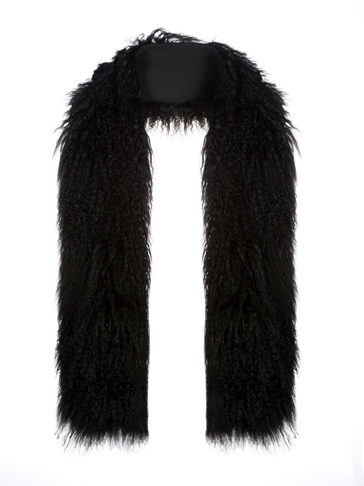 Image of AW16 Black mongolian scarf