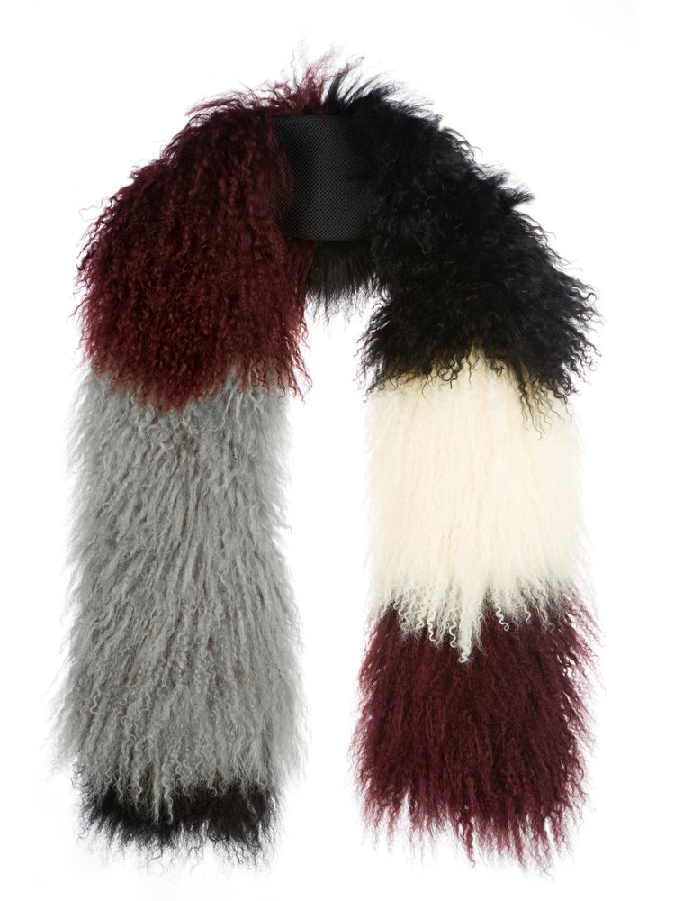 Image of AW16 Wine, White & Black Scarf
