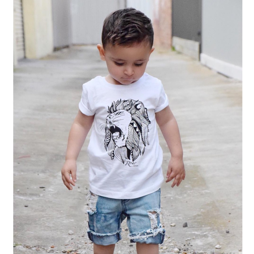Image of White Lion Tee / Muscle Tank