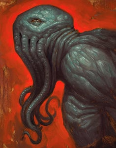 "Image of ""Cthulhu 2"" Canvas Giclee 11x14"""