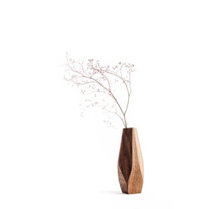 Image of Wavy wood vase