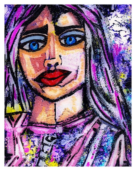 Image of Do you see me? - Original Painting by Charlotte Farhan