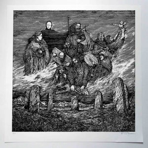 Image of Enslaved 'Vetrarnott' limited handprint