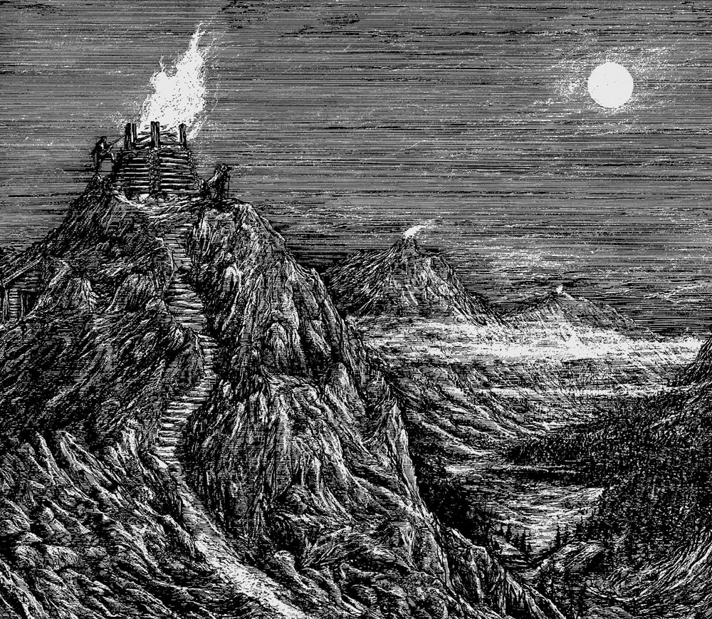 Image of Enslaved 'Midgards Eldar' limited handprint