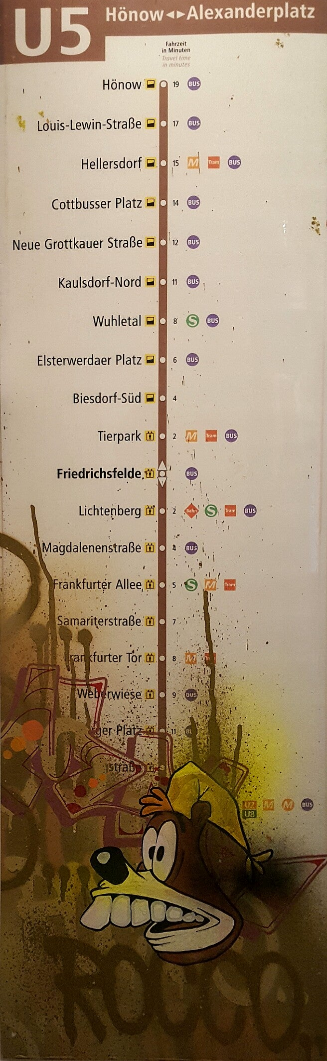 Image of 'All Lines Berlin Subway U5' by Kaos, Marr and Rocco.