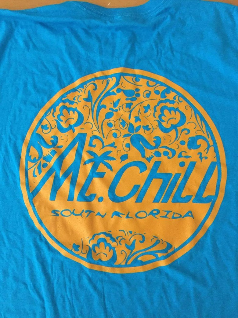Image of Mt. Chill Logo Tee (Orange and Blue)