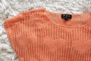 Image of Peach Heart Sweater