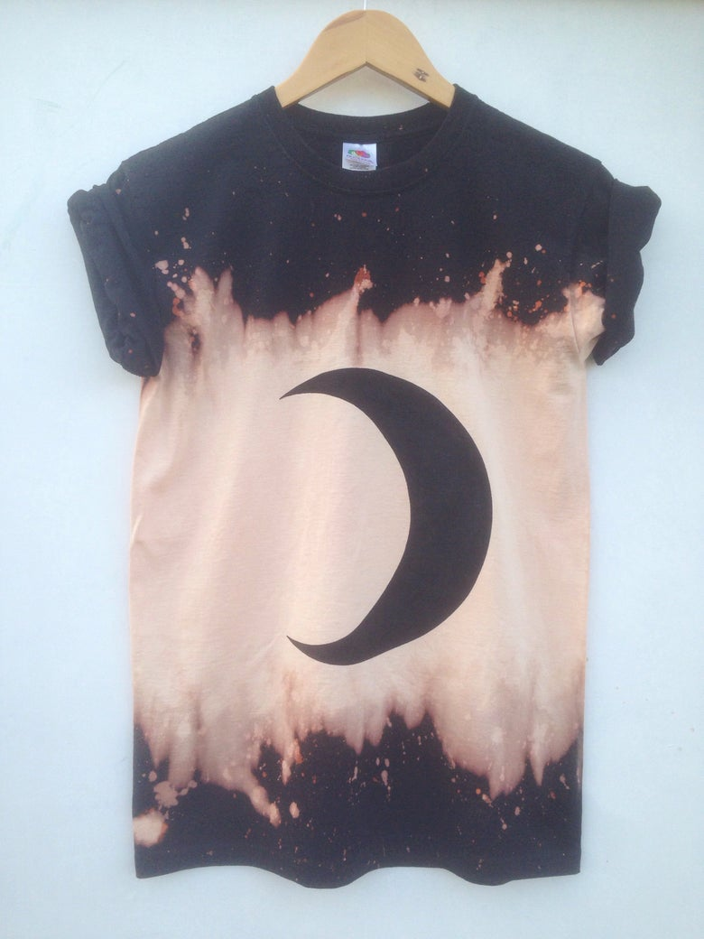 Image of Black Moon Phases Grunge Shirt - 2 weeks pre-order