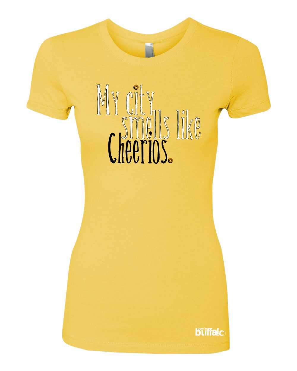 Image of My City Smells Like Cheerios JUNIORS T-Shirt PINK or YELLOW