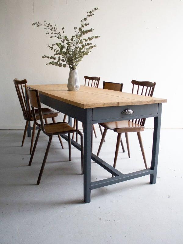 Image of table de ferme 6/8 personnes plateau chêne  **Réservé jusqu'au 12/12**