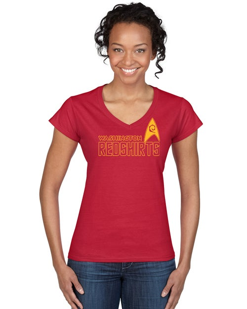 "Image of Washington Redshirts ""Uniform Look"" men's and ladies v-necks"