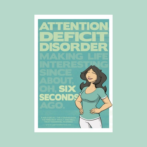 Image of Attention Deficit Disorder Poster - BIG!