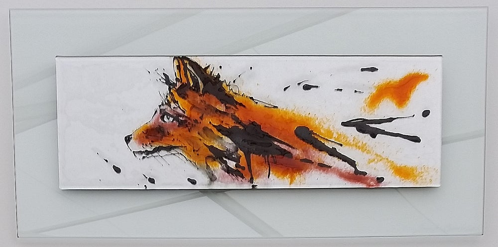 Image of Foxy glass art picture