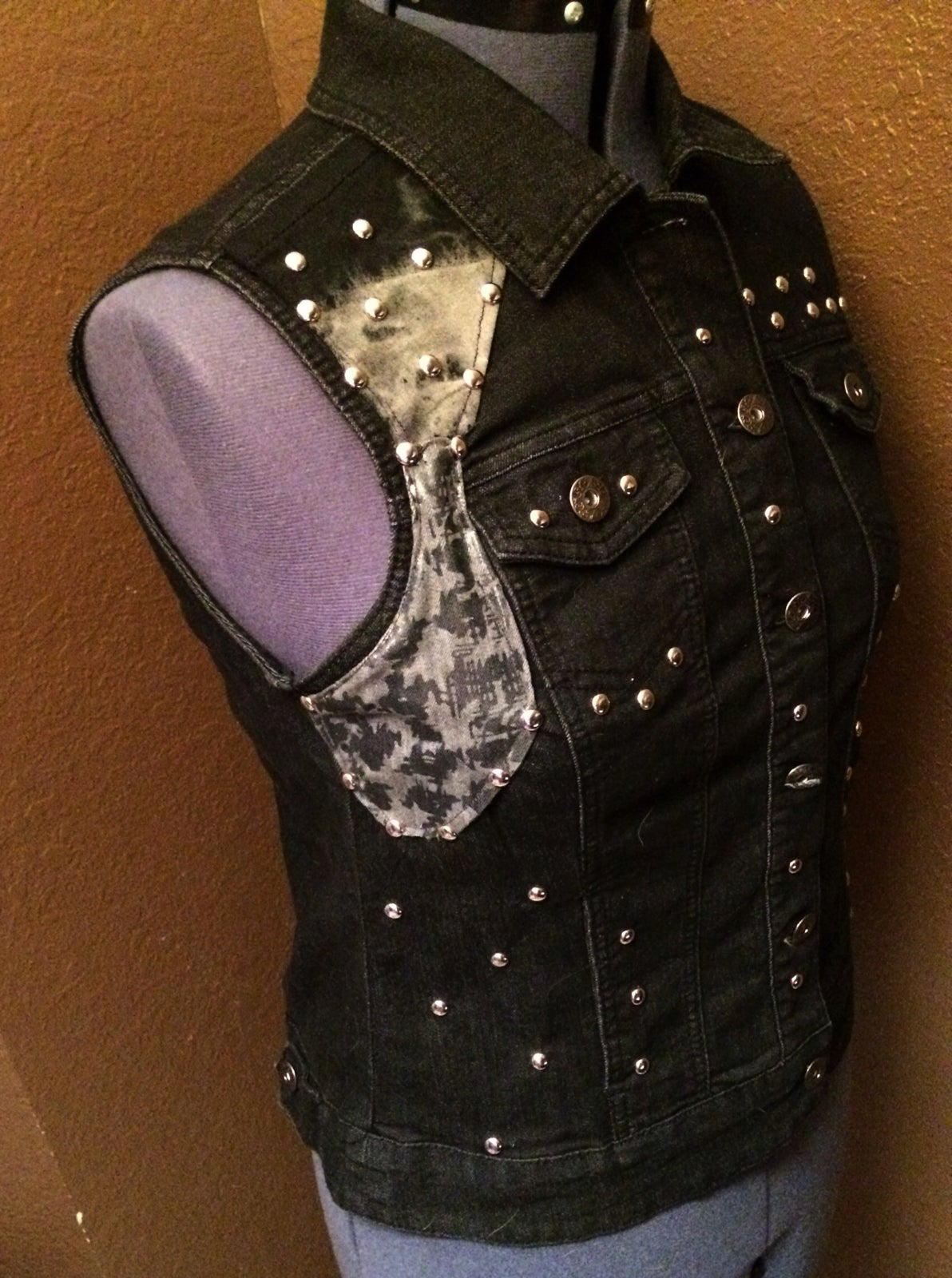 Image of Midnight Studded Stage Vest