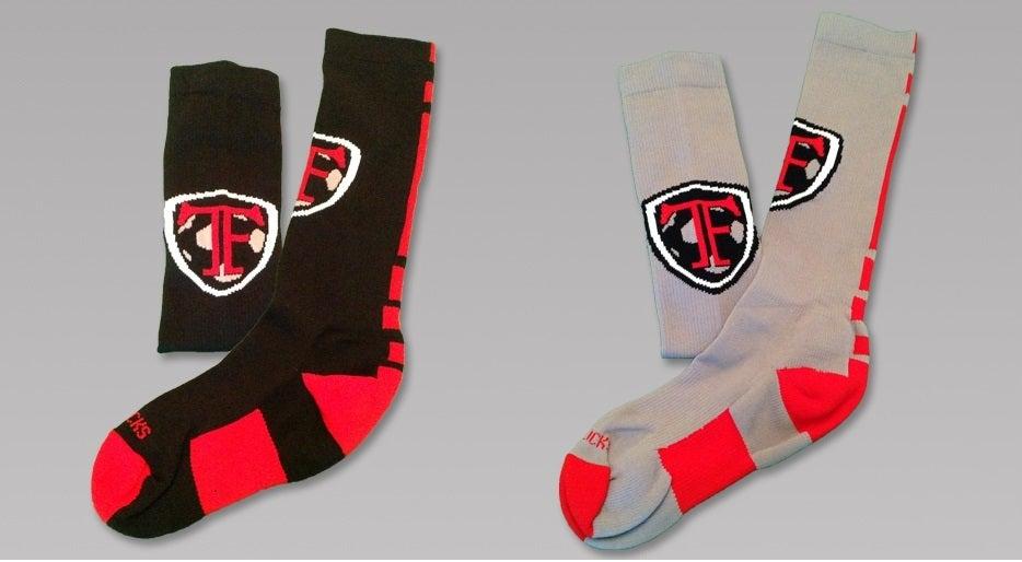 Image of Black or Gray TF Knee High Socks
